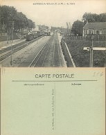 NB - [513047]B/TB//-France  - (77) Seine Et Marne, Combs-la-Ville,Gares - Avec Trains - Combs La Ville