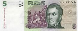 Argentina (BCRA) 5 Pesos ND (2012) R/A Replacement UNC Cat No. P-353r / AR406er - Argentine