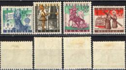 BELGIO - 1958 - PRO OPERE NAZIONALE ANTIUBERCOLARI - LEGGENDE - MH - Neufs