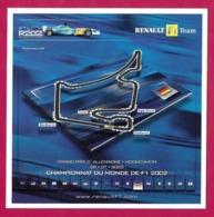 CPM.   Renault F1.   Grand Prix D'Allemagne à Hockenheim.  07.2002.  Sport Automobile.   Circuit.   Postcard. - Grand Prix / F1