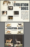 D500 2012 GUYANA FAUNA PETS THE EVOLUTION OF DOGS #8319-27 !!! MICHEL 38 EURO !!! 1SH+2BL+1KB MNH - Honden