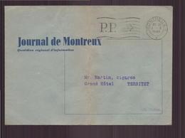 """Suisse Enveloppe à En-tête """" Journal De Montreux """" Du 3 Octobre 1949 De Montreux Pour Territet - Suisse"""