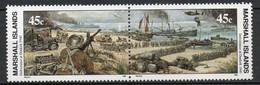 Iles Marshall - 1990 - Yvert N° 303 & 304 **  - Seconde Guerre Mondiale - Marshall