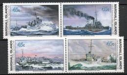 Iles Marshall - 1990 - Yvert N° 308 à 311 **  - Seconde Guerre Mondiale - Marshall