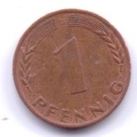 BRD 1969 D: 1 Pfennig, KM 105 - [ 7] 1949-… : RFA - Rep. Fed. Alemana