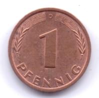 BRD 1980 D: 1 Pfennig, KM 105 - [ 7] 1949-… : RFA - Rep. Fed. Alemana