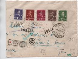 1944 - ENVELOPPE RECOMMANDEE De BUCURESTI Pour LONS LE SAUNIER (JURA) Avec CENSURE - Poststempel (Marcophilie)