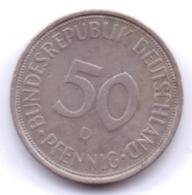 BRD 1974 D: 50 Pfennig, KM 109 - [ 7] 1949-… : RFA - Rep. Fed. Alemana