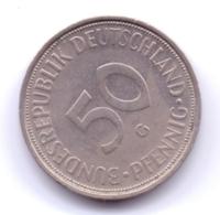 BRD 1974 G: 50 Pfennig, KM 109 - [ 7] 1949-… : RFA - Rep. Fed. Alemana