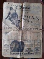 PROGRAME COURSE CYCLISTE PARIS BORDEAUX JOURNAL L'AUTO 1937 VELO LISTE DES ENGAGES TRAJET - Journaux - Quotidiens