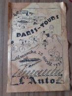 PROGRAME COURSE CYCLISTE PARIS TOURS JOURNAL L'AUTO 1937 VELO LISTE DES ENGAGES TRAJET - Journaux - Quotidiens