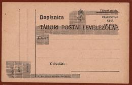 YUGOSLAVIA SHS, PROVISIONAL ISSUE For CROATIA, POSTCARD 15 Para, 1921 RARE!!! - Entiers Postaux
