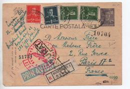 1903 - CARTE POSTALA ENTIER POSTAL RECOMMANDEE De BUCURESTI (ROMANIA) Pour PARIS Avec CENSURE / CENZURAT - Poststempel (Marcophilie)
