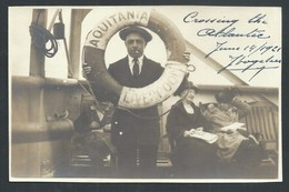 +++ CPA - Photo Carte - Foto Kaart - Bateau AQUITANIA LIVERPOOL - Transatlantique - Cunard Line - Atlantic - 1921 // - Steamers