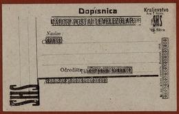 YUGOSLAVIA SHS, PROVISIONAL ISSUE For NOVI SAD, POSTCARD 15 Filler, 1919 RARE!!! - Entiers Postaux