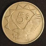 NAMIBIE - NAMIBIA - 5 DOLLARS 1993 - KM 5 - Namibia