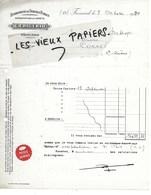 54 - Meurthe-et-moselle - FROUARD - Facture FRIGERIO - Travaux Publics, Exploitations Forestières - 1934 - REF 141B - France