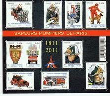 BLOC - FEUILLET  F 4582    - 2011 -   -  Sapeurs - Pompiers De  Paris   -    Neuf     -    Non Plié  - - Mint/Hinged