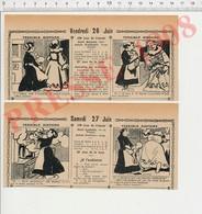 2 Scans 1908 Humour Toilette Bain De Bébé Recette Cuisine Homard ébouillanté Lettre Poste Restante Lampe à Alcool  229Y - Vieux Papiers