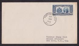 Haiti: Cover To USA, 1938, 1 Stamp, US Constitution, Legal History, Law, Rare Single Use (minor Discolouring) - Haiti
