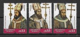 Portugal 2018  Mi.Nr. 4454 / 56 ,  Erzbischöfe Von Braga -  Postfrisch / MNH / (**) - Unused Stamps