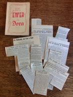 Dans L'enfer De Dora - J. Wilkens + Coupures De Presse 1944 Et 1945 - Buchenwald - SS - Missiles V2 - Guerre 1939-45