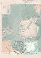 Antarctique Australien Carte Cartographie Map Australian Antarctic Sheet Mapping The AAT Douglas Mawson 1911 Cartography - Maximum Cards