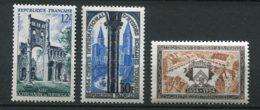 17688 FRANCE N°985, 986, 987**Abbaye De Jumièges, études Romanes à Tournus, Rattachement De Stenay   1954  TB - Unused Stamps
