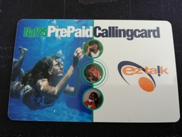 CURACAO NAF 25,- PREPAID EZ TALK  WOMAN UNDER WATERFINE THICK CARD  FINE  USED      ** 1524** - Antille (Olandesi)