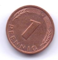 BRD 1987 G: 1 Pfennig, KM 105 - [ 7] 1949-… : RFA - Rep. Fed. Alemana
