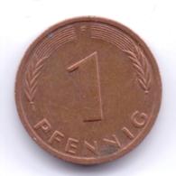 BRD 1988 F: 1 Pfennig, KM 105 - [ 7] 1949-… : RFA - Rep. Fed. Alemana