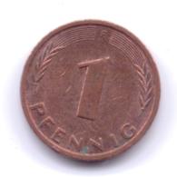 BRD 1992 F: 1 Pfennig, KM 105 - [ 7] 1949-… : RFA - Rep. Fed. Alemana