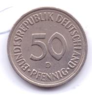 BRD 1981 D: 50 Pfennig, KM 109 - [ 7] 1949-… : RFA - Rep. Fed. Alemana