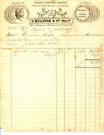 LYON.EPICIERS.DROGUISTES & PHARMACIENS.C.MULATON & Cie.FABRIQUE DE PRODUITS CHIMIQUES AUX CHARPENNES.1859.(P.J) - 1800 – 1899