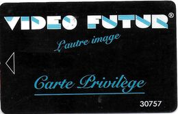 VIDÉO FUTUR CARTE ABONNEMENT CARTE PRIVILÈGE NUMÉROTÉE - France