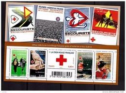 France Bloc Feuillet F4621 2011 Luxe ** Timbre 4621 à 4625 Croix Rouge Française était Vendu 5 Euro Par La Poste - Nuovi
