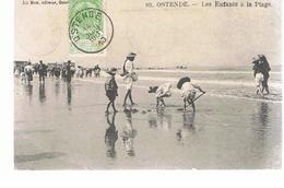 CPA Ostende () Les Enfants à La Plage écrite En 1910 - Oostende