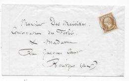 Lettre Tarif Imprimé Timbre FR N° 13 (belles Marges) Oblitération CAD CHATEAUROUX 1860 - 1849-1876: Période Classique