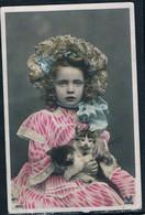 Chats Fillette  -girl Cats -katze Mädchen - Meisje,  Poezen- - Chats