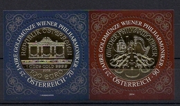 "2014 Austria Mi. Bl 83 **MNH   25 Jahre Goldmünze ""Wiener Philharmoniker - 2011-... Nuovi & Linguelle"