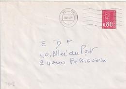 """Env. De """"Paris Gare Montparnasse - 75"""" Du 24-02-1975, Sur YT 1816 - Annullamenti Meccaniche (Varie)"""