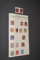 Important Lot De 17 Anciens Timbres Avec Belles Oblitérations,timbres Anciens,sur Charnière,UK,pour Collection - Grande-Bretagne