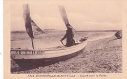 50-GONNNEVILLE-BLAINVILLE-DEPART POUR LA PÊCHE-(ANIMÉE) - France