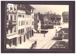 FORMAT 10x15cm - TRAMWAY DE BIENNE - BIEL - CARTE BVA REPRO ANNEES 70 - TRAIN - BAHN - No 33.6 - TB - BE Berne