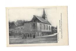 CPA LEALVILLERS  L'église Bombardée Et L'abri Pour Mitrailleuse - Other Municipalities