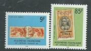 Polynésie Service N° 27 / 28 XX  :  Timbres Et Cachets Sur Timbres : 9 F. Et 85 F. Les 2 Valeurs  Sans Charnière, TB - Service