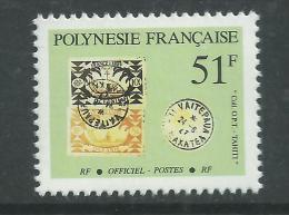 Polynésie Service N° 26 XX  :  Timbres Et Cachets Sur Timbres : 51 F.  Sans Charnière, TB - Service