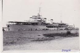 Photo Ancienne Cameroun Douala Port  Aviso France Marine Guerre - Bateaux