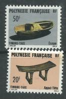 Polynésie Taxe N° 8 / 9  XX  :  Artisanat : Les 2 Valeurs  Sans Charnière, TB - Timbres-taxe