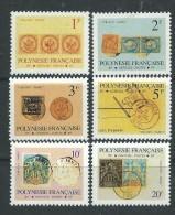 Polynésie Service N° 16 / 25  XX  :  Timbres Et Cachets Sur Timbres, La Série Des 10 Valeurs  Sans Charnière, TB - Service